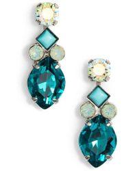 Sorrelli - Precious Petal Crystal Drop Earrings - Lyst