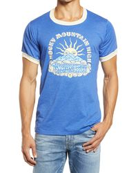 Parks Project Men's Rocky Mountain Sunrise Graphic Ringer Tee - Blue