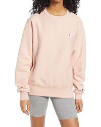 Champion Reverse Weave Boyfriend Sweatshirt - Multicolor