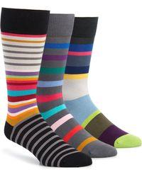 Paul Smith - 3-pack Stripe Socks - Lyst