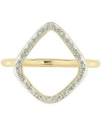 Monica Vinader - 'riva' Diamond Hoop Ring - Lyst