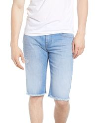 True Religion Ricky Cutoff Denim Shorts - Blue