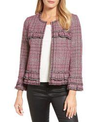 Pleione Ruffle Plaid Jacket - Multicolor