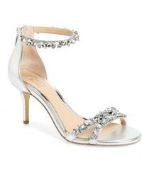 Badgley Mischka - Caroline Embellished Sandal - Lyst