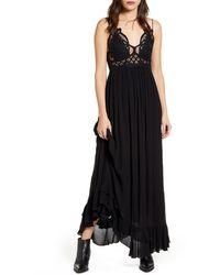 Free People Adella Maxi Dress - Black