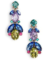 Sorrelli - Pine Crystal Drop Earrings - Lyst