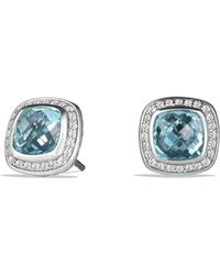 David Yurman 'albion' Earrings With Semiprecious Stone And Diamonds - Blue