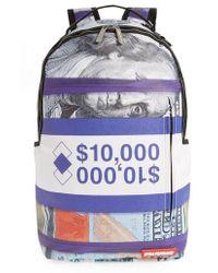 Sprayground - Purple Money Stacks Backpack - Purple - Lyst