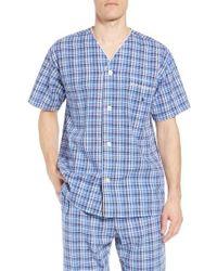 Polo Ralph Lauren - Walker Plaid Cotton & Linen Pajama Shirt - Lyst