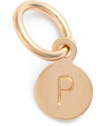Nashelle Tiny Initial 14k-gold Fill Coin Charm - Metallic