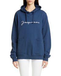 Jacquemus Le Sweat Logo Hoodie - Blue