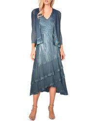 Komarov - Asymmetrical Jacket Dress - Lyst