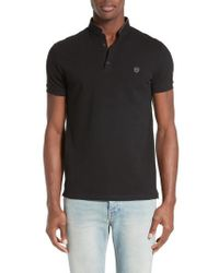 The Kooples - Pipe Trim Band Collar Pique Polo - Lyst