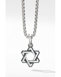 David Yurman Sterling Silver Deco Star Of David Pendant - Metallic