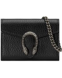 Gucci - Dionysus Leather Coin Case - Lyst