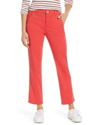Wit & Wisdom Ab-solution Luxe Touch Cotton Blend Ankle Pants - Pink
