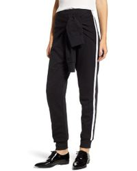 French Connection - Tied Sleeve Sweatpants - Lyst