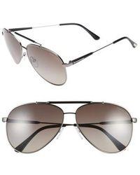 a0a07fb0de Tom Ford -  rick  62mm Polarized Aviator Sunglasses - Gunmetal  Black  Grey