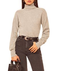 Reformation Turtleneck Organic Cotton Sweater - Black