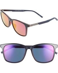 Tommy Hilfiger 55mm Special Fit Rectangular Sunglasses - Multicolor