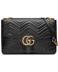 Gucci - Gg Large Marmont 2.0 Matelassé Leather Shoulder Bag - Lyst