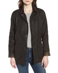 Barbour   Beadnell Waxed Cotton Jacket   Lyst