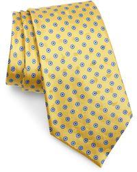 Ermenegildo Zegna Geometric Silk Tie - Yellow