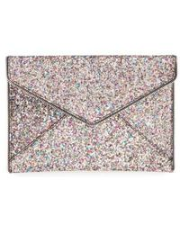 Rebecca Minkoff - 'leo' Envelope Clutch - Metallic - Lyst