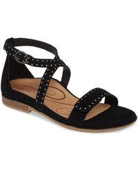 Aetrex Hailey Studded Sandal - Black