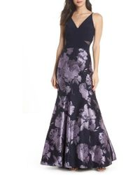 Xscape - Brocade Mermaid Gown - Lyst