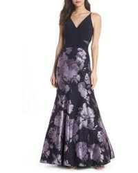 Xscape - Brocade Mermaid Gown - Lyst