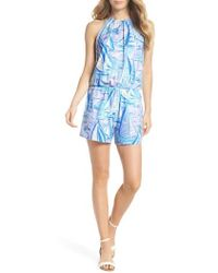 Lilly Pulitzer - Lilly Pulitzer Gianni Sleeveless Romper - Lyst