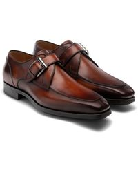 Magnanni Maurici Monk Strap Shoe - Brown