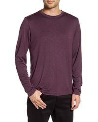 Theory Gaskell Slim Fit Long Sleeve T-shirt - Purple