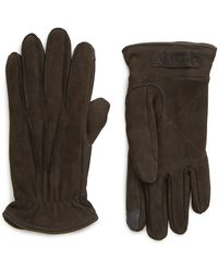 UGG UGG Three-point Leather Tech Gloves - Multicolour