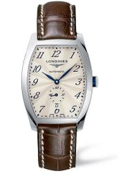 Longines - Evidenza Automatic Leather Strap Watch - Lyst