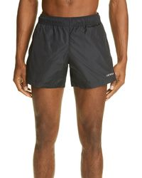 Off-White c/o Virgil Abloh Logo Swim Trunks - Black