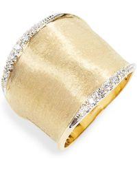 Marco Bicego - Lunaria Diamond Band Ring - Lyst
