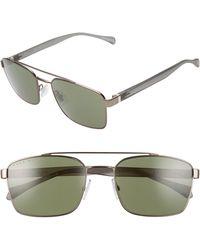 BOSS by Hugo Boss 57mm Aviator Sunglasses - Metallic