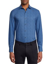 W.r.k. - Trim Fit Stretch Floral Performance Dress Shirt - Lyst