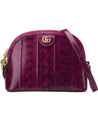 Gucci - Small Ophidia Genuine Snakeskin Shoulder Bag - Lyst