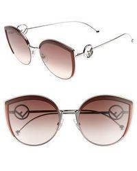 Fendi - 58mm Metal Butterfly Sunglasses - - Lyst