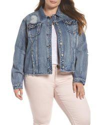 Glamorous - Embellished Distressed Denim Jacket - Lyst