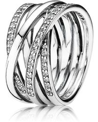 PANDORA - Entwined Band Ring - Lyst