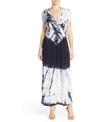 Fraiche By J - Tie Dye Crepe Maxi Dress - Lyst