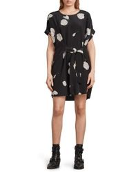 AllSaints | Sonny Rodin Silk Dress | Lyst