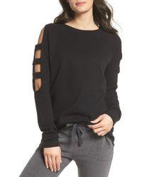 Zella - Cutout Sleeve Sweatshirt - Lyst