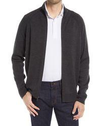 Nordstrom Tech-smart Zip Front Cardigan - Gray