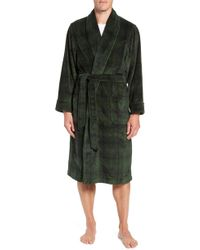 Nordstrom - Ombre Plaid Fleece Robe - Lyst