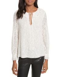 Rebecca Taylor | Textured Vines Silk Top | Lyst